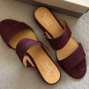 Franco Sarto Burgundy Sandals